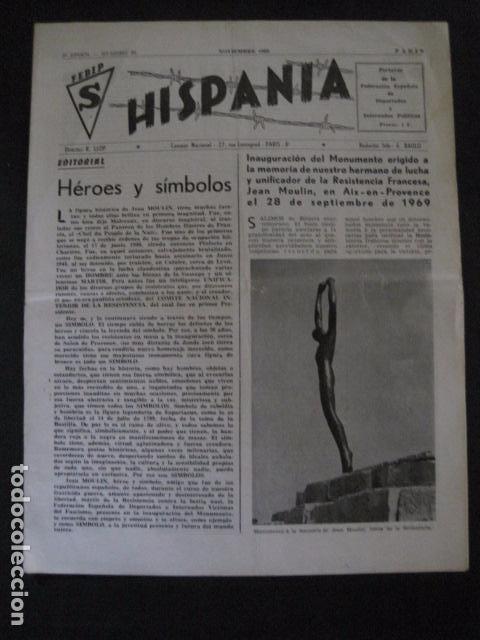 HISPANIA- REVISTA DEPORTADOS E INTERNADOS POLITICOS - NUM. 32 - AÑO 1969 - VER FOTOS-(V- 10.931) (Militar - Revistas y Periódicos Militares)