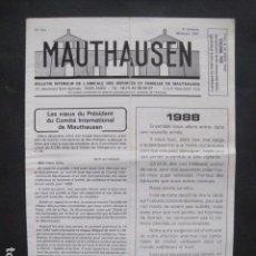 Militaria: MAUTHAUSEN - REVISTA DEPORTADOS E INTERNADOS POLITICOS - NUM. 232 - AÑO 1987 - VER FOTOS-(V- 10.939). Lote 86157760