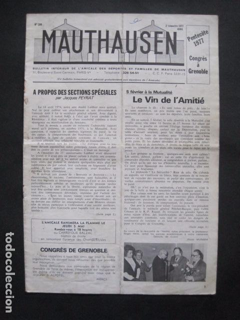 MAUTHAUSEN - REVISTA DEPORTADOS E INTERNADOS POLITICOS - NUM. 184 - AÑO 1977 - VER FOTOS-(V- 10.940) (Militar - Revistas y Periódicos Militares)