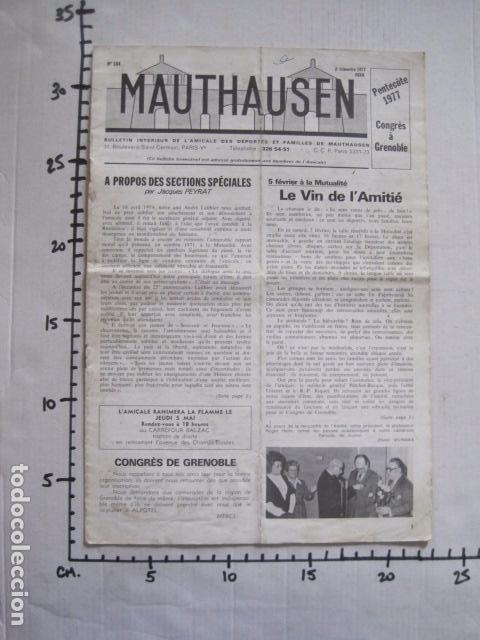 Militaria: MAUTHAUSEN - REVISTA DEPORTADOS E INTERNADOS POLITICOS - NUM. 184 - AÑO 1977 - VER FOTOS-(V- 10.940) - Foto 8 - 86157848