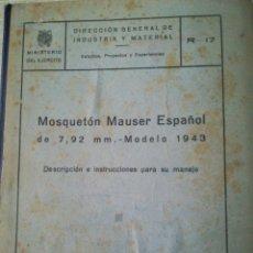 Militaria: MOSQUETON MAUSER ESPAÑOL. Lote 87450518