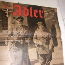 Militaria: REVISTA DER ADLER 30 JUNIO DE 1942. Lote 87466884