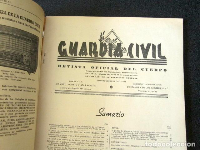 Militaria: AÑO 1959. REVISTA OFICIAL DE LA GUARDIA CIVIL. Nº 180. - Foto 2 - 88112892