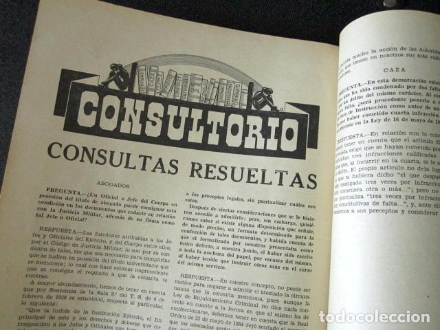 Militaria: AÑO 1959. REVISTA OFICIAL DE LA GUARDIA CIVIL. Nº 180. - Foto 4 - 88112892