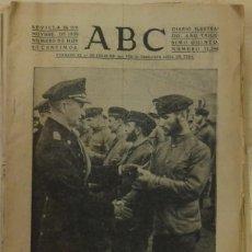 Militaria: ABC 26 NOVIEMBRE 1939 SEVILLA,18 PAGINAS, PORTADA LOS HEROES DEL MAR. Lote 88351604