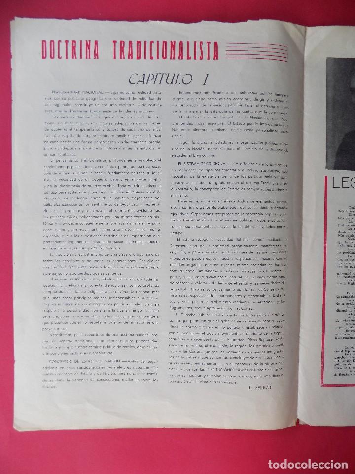 Militaria: PERIODICO EL REQUETE - Nº 1, EPOCA 2ª, OCTUBRE 1959 -BARCELONA - ORGANO OFICIAL DE REQUETES.. R-6303 - Foto 4 - 89241392