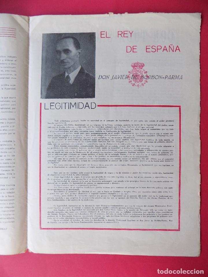 Militaria: PERIODICO EL REQUETE - Nº 1, EPOCA 2ª, OCTUBRE 1959 -BARCELONA - ORGANO OFICIAL DE REQUETES.. R-6303 - Foto 5 - 89241392