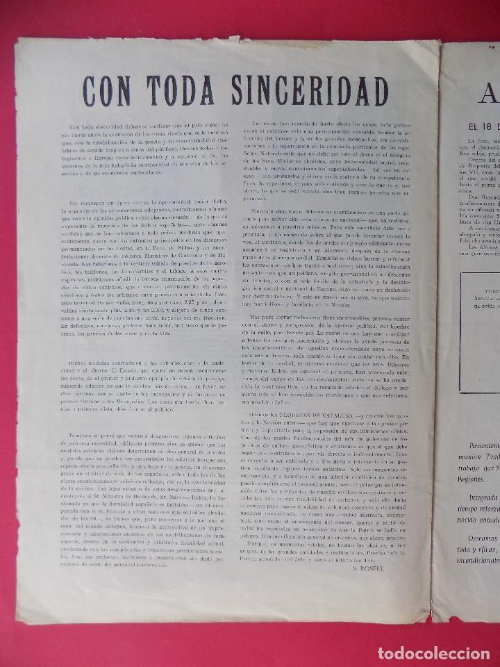 Militaria: PERIODICO EL REQUETE - Nº 1, EPOCA 2ª, OCTUBRE 1959 -BARCELONA - ORGANO OFICIAL DE REQUETES.. R-6303 - Foto 6 - 89241392