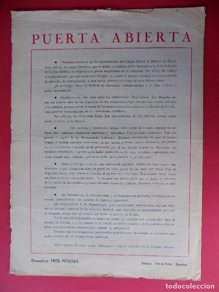 Militaria: PERIODICO EL REQUETE - Nº 1, EPOCA 2ª, OCTUBRE 1959 -BARCELONA - ORGANO OFICIAL DE REQUETES.. R-6303 - Foto 8 - 89241392