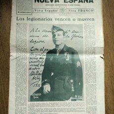 Militaria: 1938 PERIÓDICO LEGION ESPAÑOLA - MILLAN ASTRAY - GUERRA CIVIL ESPAÑOLA. Lote 92094750