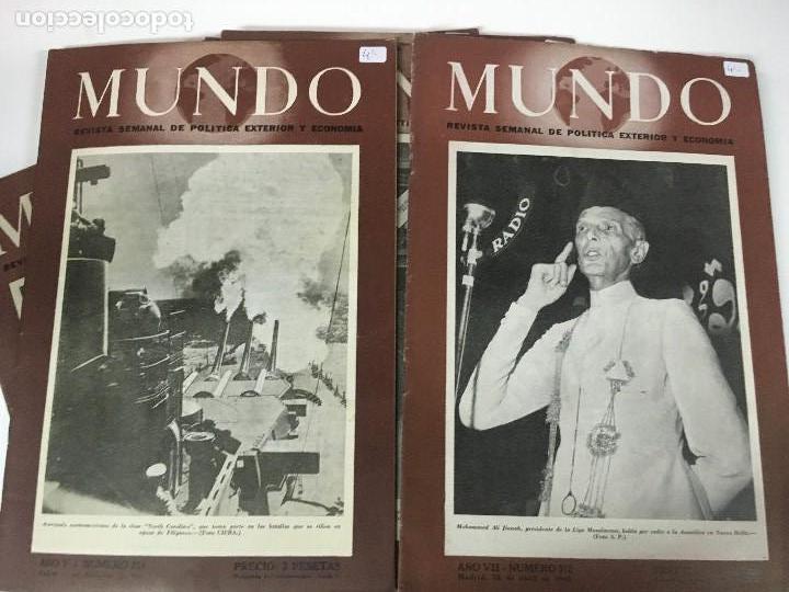 Militaria: LOTE 8 Revistas de política MUNDO nums 234 270 311 312 318 322 407 y 427 años 1944 a 1948 - Foto 2 - 95911343