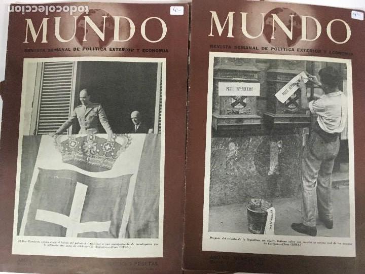 Militaria: LOTE 8 Revistas de política MUNDO nums 234 270 311 312 318 322 407 y 427 años 1944 a 1948 - Foto 3 - 95911343