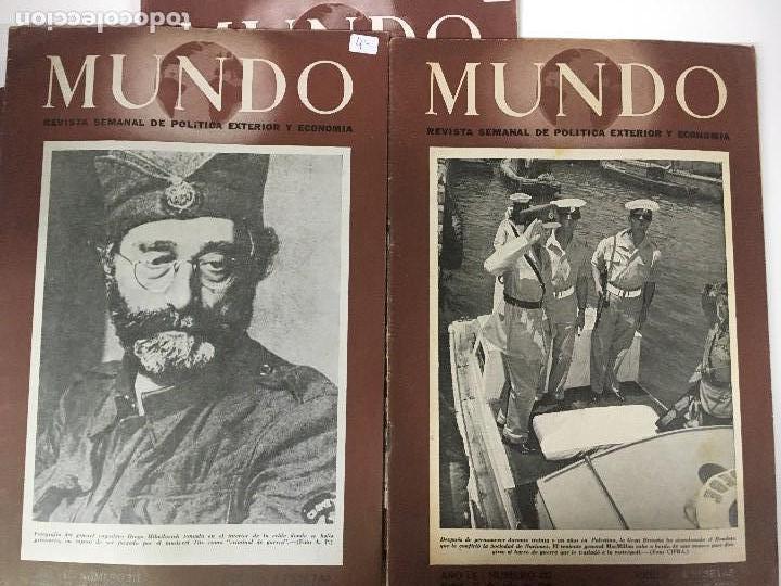 Militaria: LOTE 8 Revistas de política MUNDO nums 234 270 311 312 318 322 407 y 427 años 1944 a 1948 - Foto 4 - 95911343
