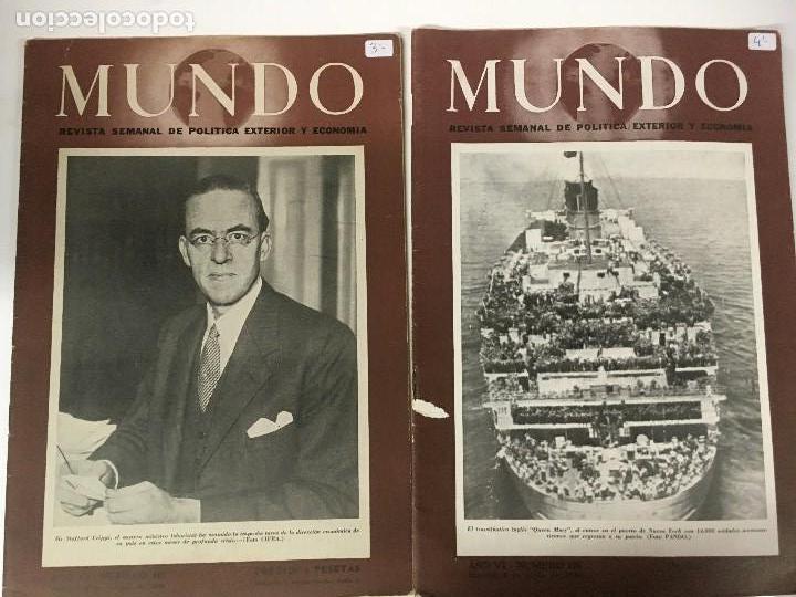 Militaria: LOTE 8 Revistas de política MUNDO nums 234 270 311 312 318 322 407 y 427 años 1944 a 1948 - Foto 5 - 95911343