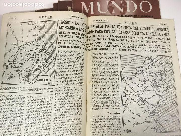 Militaria: LOTE 8 Revistas de política MUNDO nums 234 270 311 312 318 322 407 y 427 años 1944 a 1948 - Foto 7 - 95911343