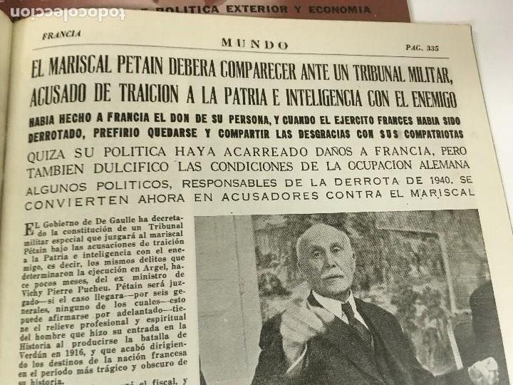 Militaria: LOTE 8 Revistas de política MUNDO nums 234 270 311 312 318 322 407 y 427 años 1944 a 1948 - Foto 8 - 95911343