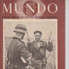 Militaria: MUNDO Nº 71. 14 DE SEPTIEMBRE DE 1941.. Lote 96838267