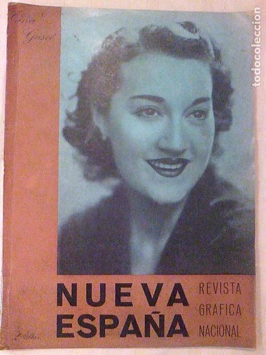REVISTA NUEVA ESPAÑA 1941 DIVISION AZUL ARQUITECTURA ALEMANIA DE HITLER  SALON ROSA BARCELONA (Militar -