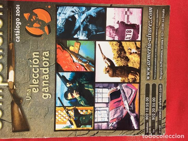 Militaria: Competición catalogo de armas 2001 complementos caza , visores rifles 50 pág armería alvarez - Foto 2 - 98794279