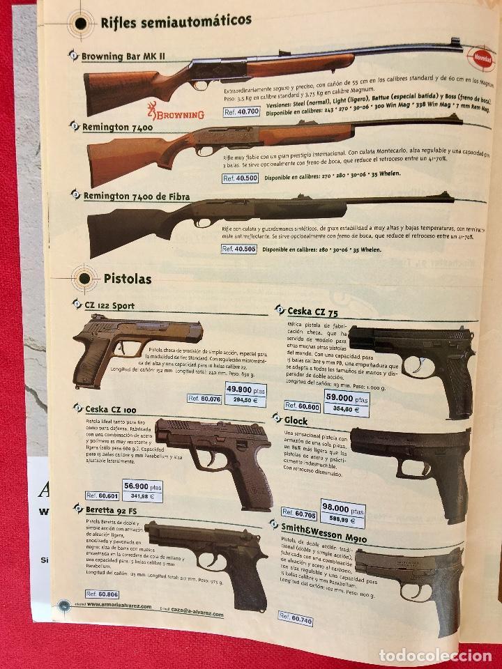 Militaria: Competición catalogo de armas 2001 complementos caza , visores rifles 50 pág armería alvarez - Foto 6 - 98794279