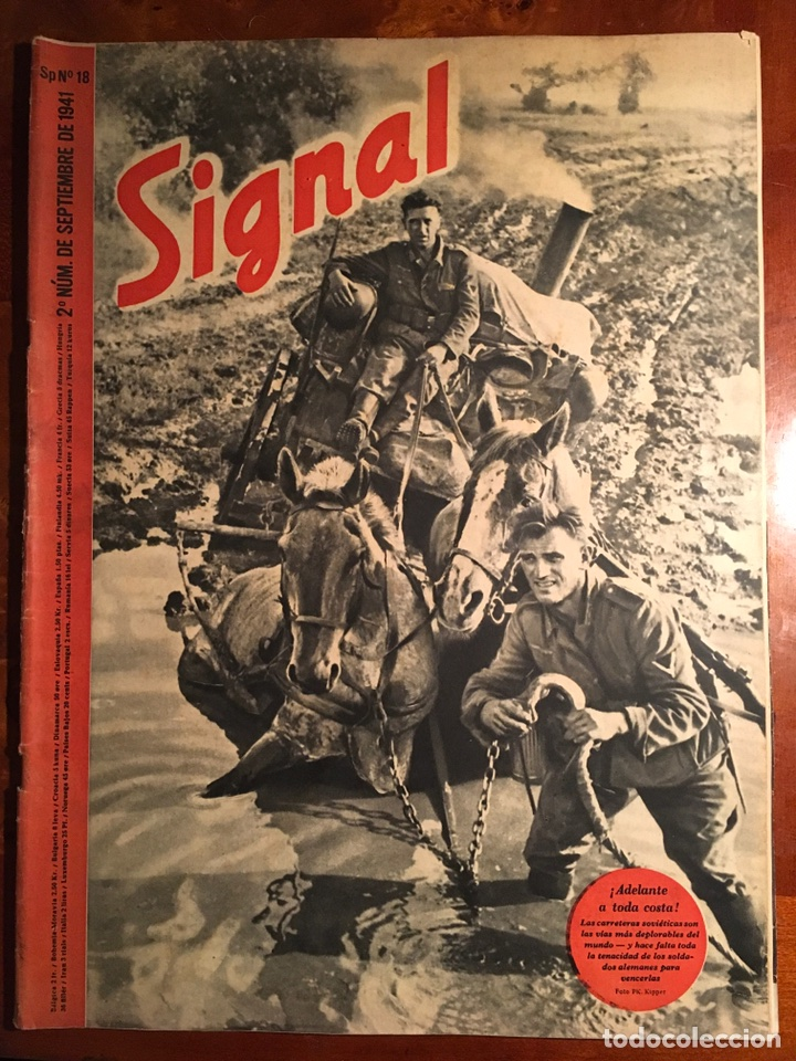 SIGNAL REVISTA ALEMANA DE GUERRA, EDICIÓN ESPAÑOLA. 2 NÚMERO DE SEPTIEMBRE DE 1941 (Militar - Revistas y Periódicos Militares)