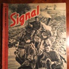 Militaria: SIGNAL REVISTA ALEMANA DE GUERRA, EDICIÓN ESPAÑOLA. 2 NÚMERO DE SEPTIEMBRE DE 1941. Lote 98888667