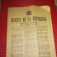 Militaria: GACETA DE LA REPUBLICA - BARCELONA, 22 DE MARZO DE 1938 - 20 PÁG. - CON REQUERIMIENTOS A DESERTORES. Lote 100260919
