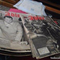 Militaria: LOTE 50 REVISTAS AVIACIÓN DER ADLER EL ÁGUILA AÑOS 1942, 43 Y 44. Lote 101097563