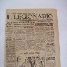 Militaria: DIARIO IL LEGIONARIO CTV GUERRA CIVIL 18 12 1937. Lote 104518455