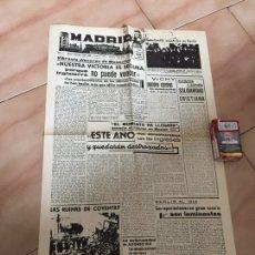 Militaria: FACSÍMIL DIARIO MADRID FEBRERO 1941. Lote 104692271