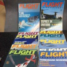 Militaria: FLIGHT INTERNACIONAL, REVISTAS DE AVIACION LOTE DE 39 EJEMPLARES - EDICION EN INGLES AÑOS 80. Lote 104877443