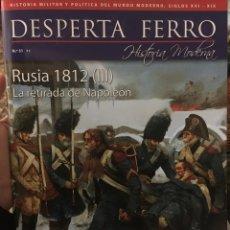 Militaria: DESPERTA FERRO Nº31 HISTORIA MODERNA. RUSIA 1812 (III) LA RETIRADA DE NAPOLEÓN. Lote 104995891