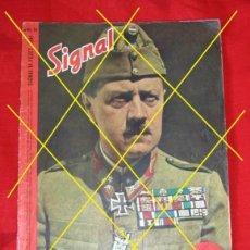 Militaria: SIGNAL Nº 14 1944 ED. U HUNGARO - REVISTA ALEMANA II GUERRA MUNDIAL III REICH EXTREMADAMENTE RARO. Lote 109274207