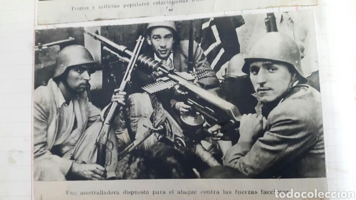 ALBUM DE FOTOGRAFIAS DE PERIÓDICO DE LA GUERRA CIVIL. 215 PAGINAS (Militar - Revistas y Periódicos Militares)