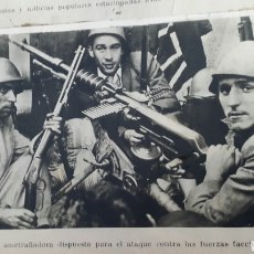 Militaria: ALBUM DE FOTOGRAFIAS DE PERIÓDICO DE LA GUERRA CIVIL. 215 PAGINAS. Lote 110627646