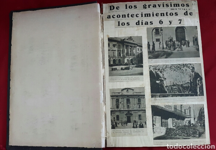 Militaria: ALBUM DE FOTOGRAFIAS DE PERIÓDICO DE LA GUERRA CIVIL. 215 PAGINAS - Foto 3 - 110627646