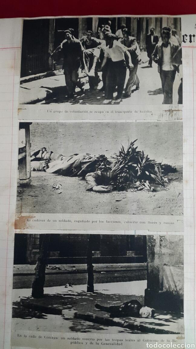 Militaria: ALBUM DE FOTOGRAFIAS DE PERIÓDICO DE LA GUERRA CIVIL. 215 PAGINAS - Foto 6 - 110627646