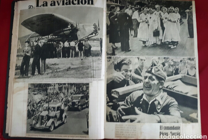 Militaria: ALBUM DE FOTOGRAFIAS DE PERIÓDICO DE LA GUERRA CIVIL. 215 PAGINAS - Foto 8 - 110627646