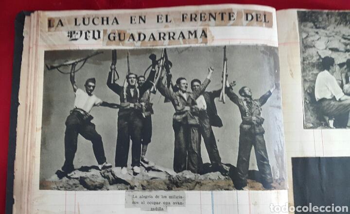 Militaria: ALBUM DE FOTOGRAFIAS DE PERIÓDICO DE LA GUERRA CIVIL. 215 PAGINAS - Foto 10 - 110627646