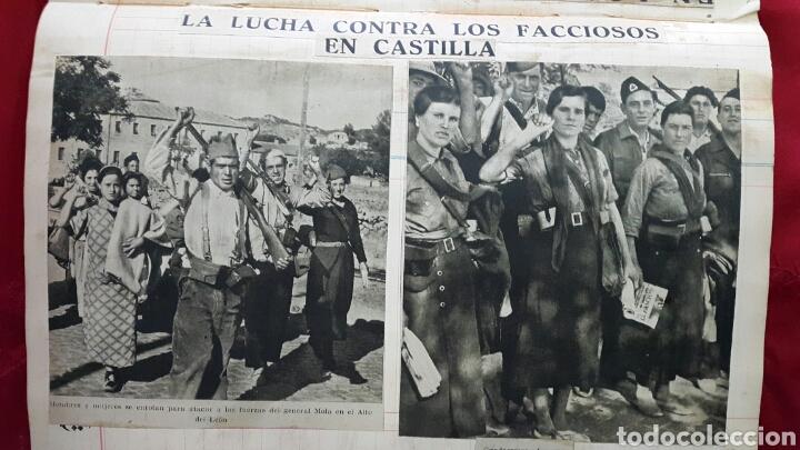 Militaria: ALBUM DE FOTOGRAFIAS DE PERIÓDICO DE LA GUERRA CIVIL. 215 PAGINAS - Foto 11 - 110627646