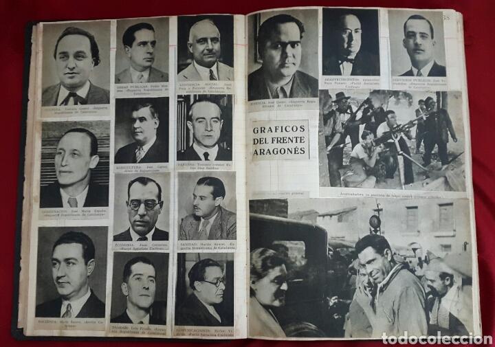 Militaria: ALBUM DE FOTOGRAFIAS DE PERIÓDICO DE LA GUERRA CIVIL. 215 PAGINAS - Foto 12 - 110627646