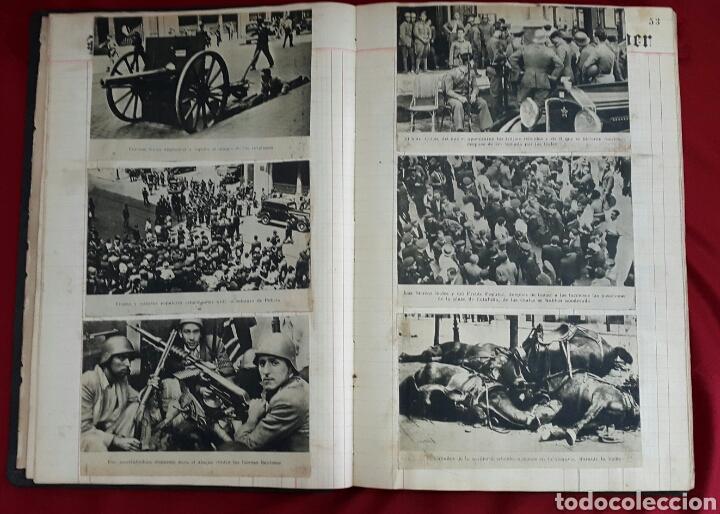 Militaria: ALBUM DE FOTOGRAFIAS DE PERIÓDICO DE LA GUERRA CIVIL. 215 PAGINAS - Foto 13 - 110627646