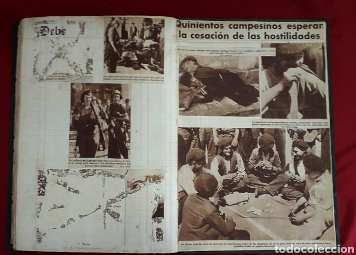 Militaria: ALBUM DE FOTOGRAFIAS DE PERIÓDICO DE LA GUERRA CIVIL. 215 PAGINAS - Foto 14 - 110627646