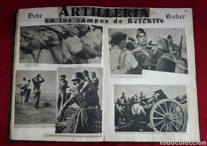 Militaria: ALBUM DE FOTOGRAFIAS DE PERIÓDICO DE LA GUERRA CIVIL. 215 PAGINAS - Foto 15 - 110627646