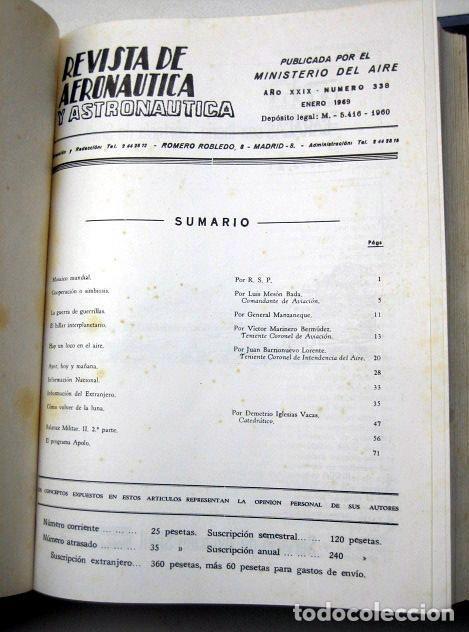 Militaria: Revista de aeronáutica y astronáutica. 6 tomos. Años 1969, 1970, 1971, 1972, 1973 y 1974 - Foto 3 - 111300335