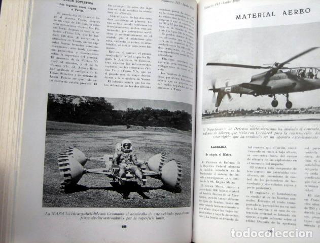 Militaria: Revista de aeronáutica y astronáutica. 6 tomos. Años 1969, 1970, 1971, 1972, 1973 y 1974 - Foto 6 - 111300335