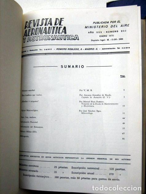 Militaria: Revista de aeronáutica y astronáutica. 6 tomos. Años 1969, 1970, 1971, 1972, 1973 y 1974 - Foto 8 - 111300335