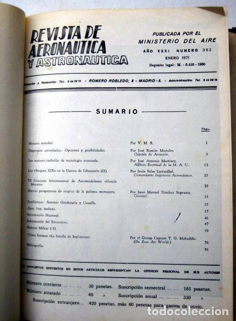 Militaria: Revista de aeronáutica y astronáutica. 6 tomos. Años 1969, 1970, 1971, 1972, 1973 y 1974 - Foto 10 - 111300335