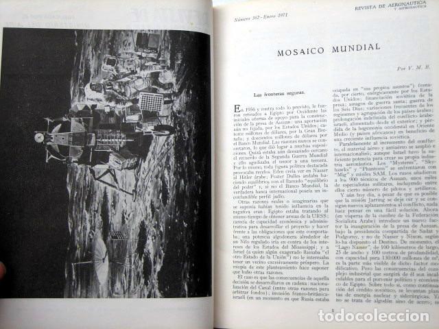 Militaria: Revista de aeronáutica y astronáutica. 6 tomos. Años 1969, 1970, 1971, 1972, 1973 y 1974 - Foto 11 - 111300335