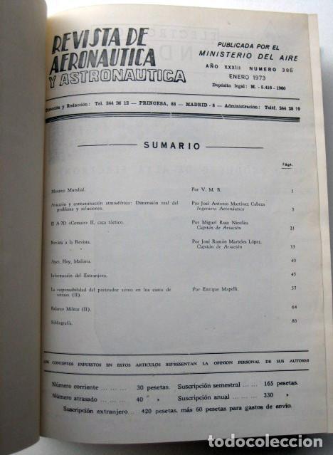 Militaria: Revista de aeronáutica y astronáutica. 6 tomos. Años 1969, 1970, 1971, 1972, 1973 y 1974 - Foto 14 - 111300335